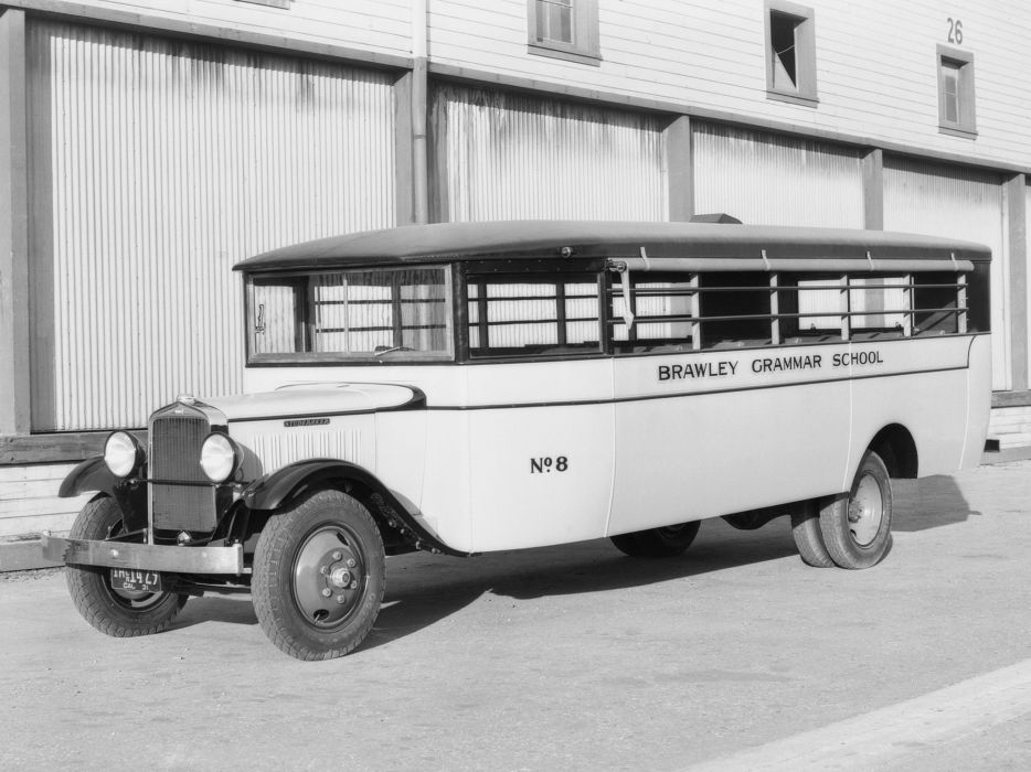 1931 Studebaker S-series School Coach Crown Motor Carriage bus transport semi tractor retro     g wallpaper
