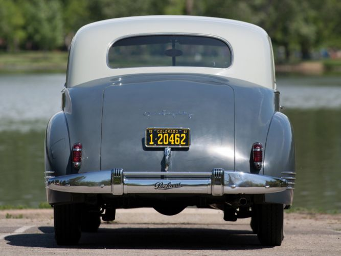 1941 Packard 180 Custom Super Eight Sport Brougham LeBaron (1907-1452) retro luxury g wallpaper