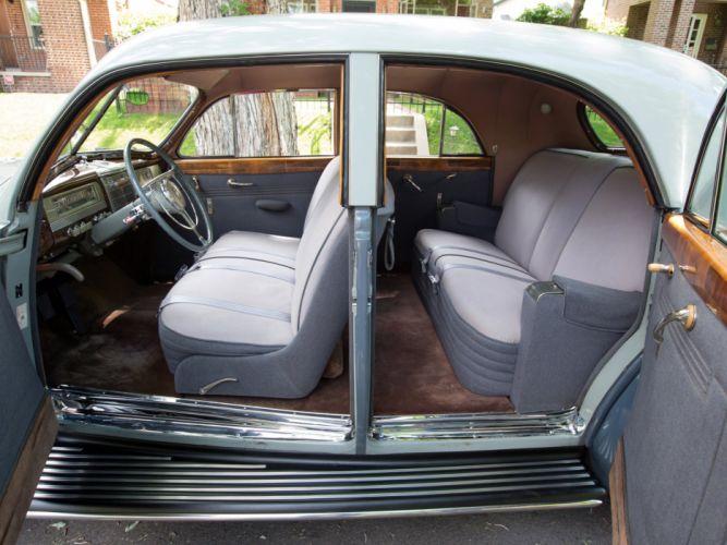 1941 Packard 180 Custom Super Eight Sport Brougham LeBaron (1907-1452) retro luxury interior n wallpaper