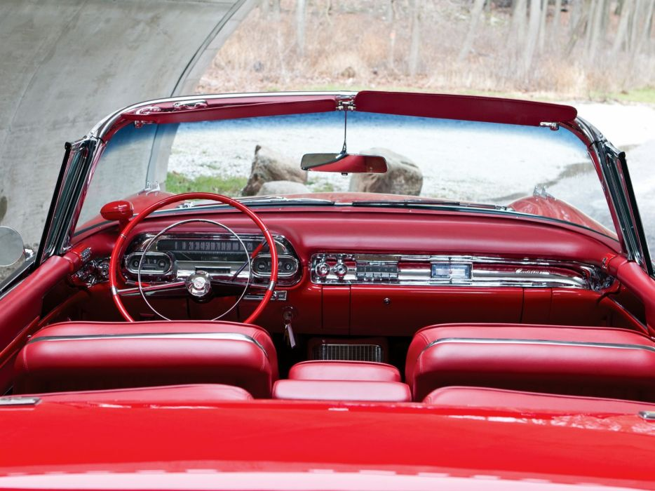 1957 Cadillac Sixty Two Eldorado Special Biarritz (57-6267SX) luxury retro interior  h wallpaper