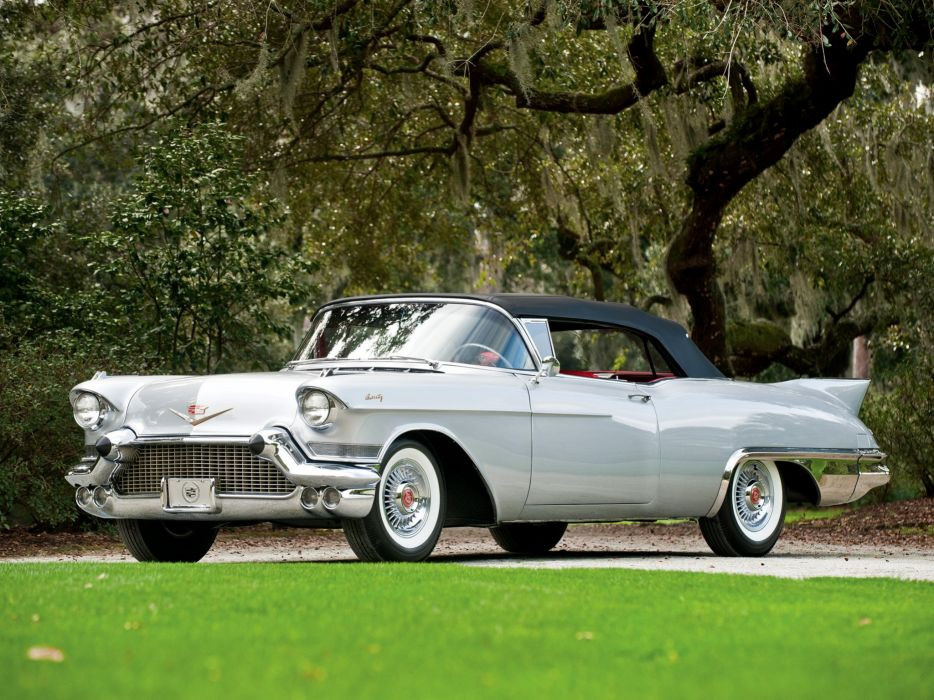 1957 Cadillac Sixty Two Eldorado Special Biarritz (57-6267SX) luxury retro  jg wallpaper