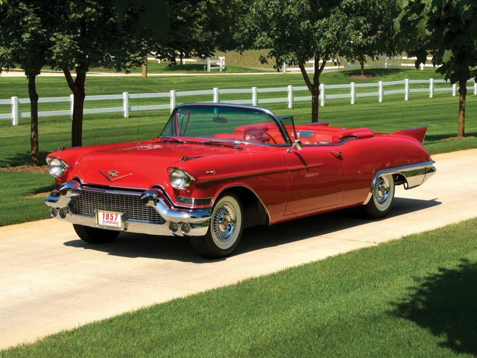 1957 Cadillac Sixty Two Eldorado Special Biarritz (57-6267SX) luxury retro  e wallpaper