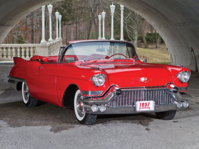 1957 Cadillac Sixty Two Eldorado Special Biarritz (57-6267SX) luxury retro h wallpaper