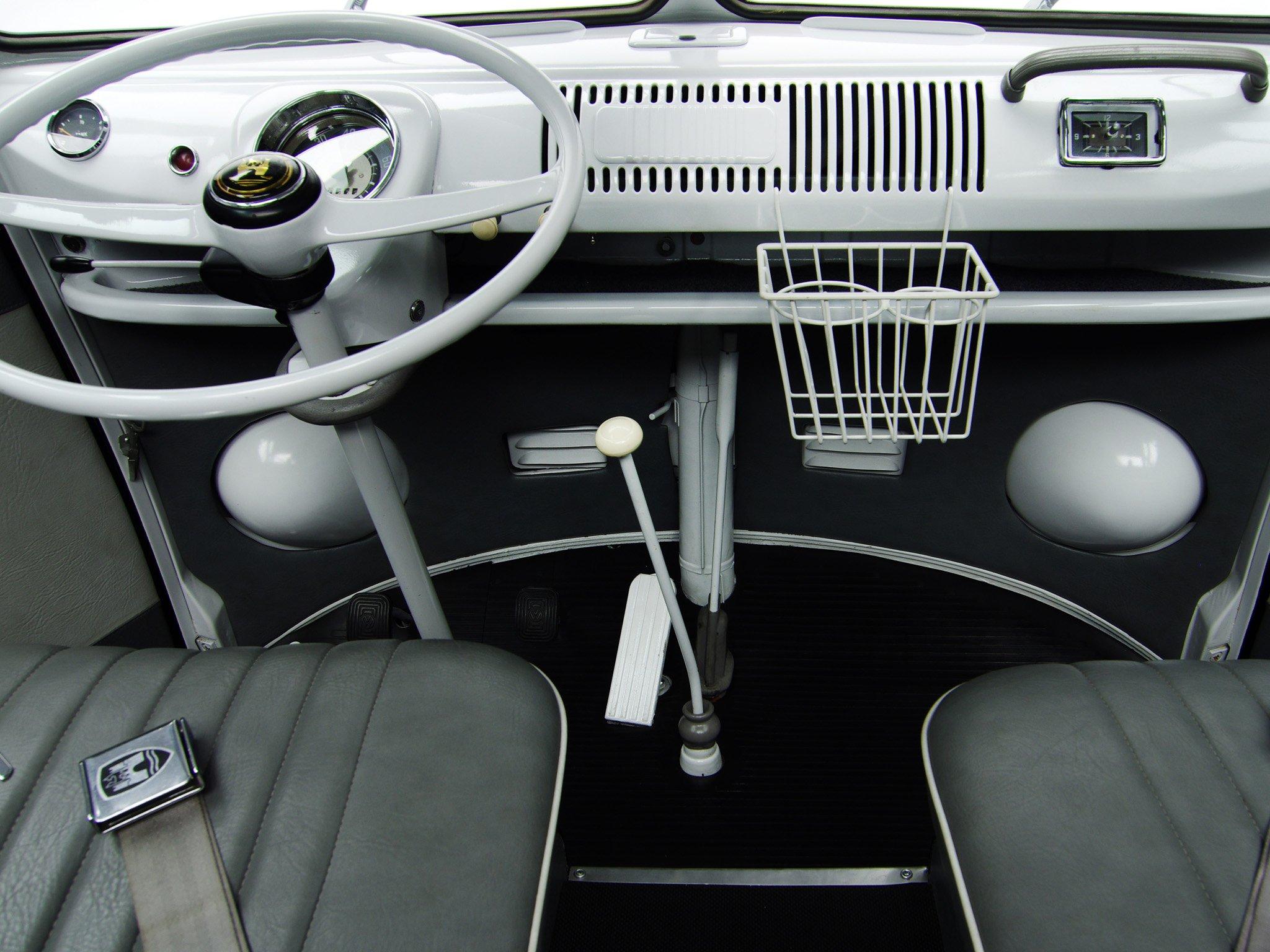 68 Vw Bus >> 1963-67 Volkswagen T-1 Deluxe Samba Bus van classic interior d wallpaper   2048x1536   361594 ...