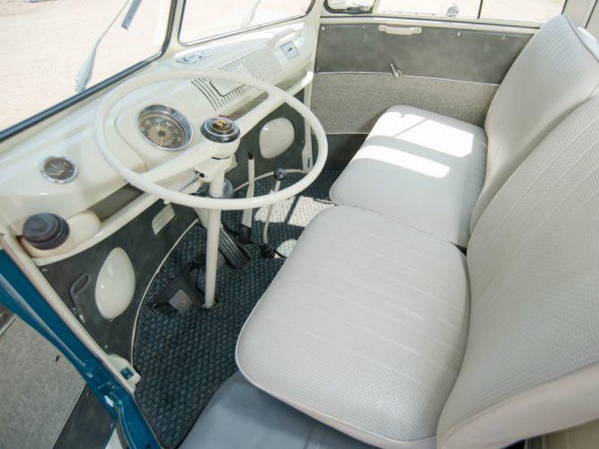 1963-67 Volkswagen T-1 Deluxe Samba Bus van classic interior g wallpaper
