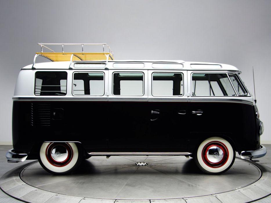1963-67 Volkswagen T-1 Deluxe Samba Bus van classic socal lowrider custom  d wallpaper