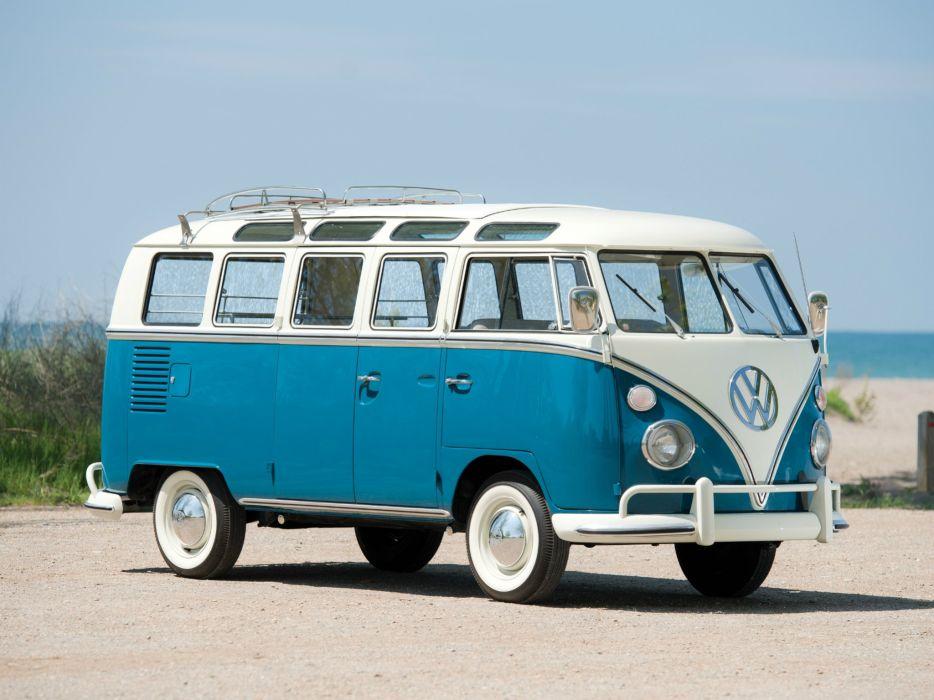 1963 67 Volkswagen T 1 Deluxe Samba Bus Van Clic H Wallpaper