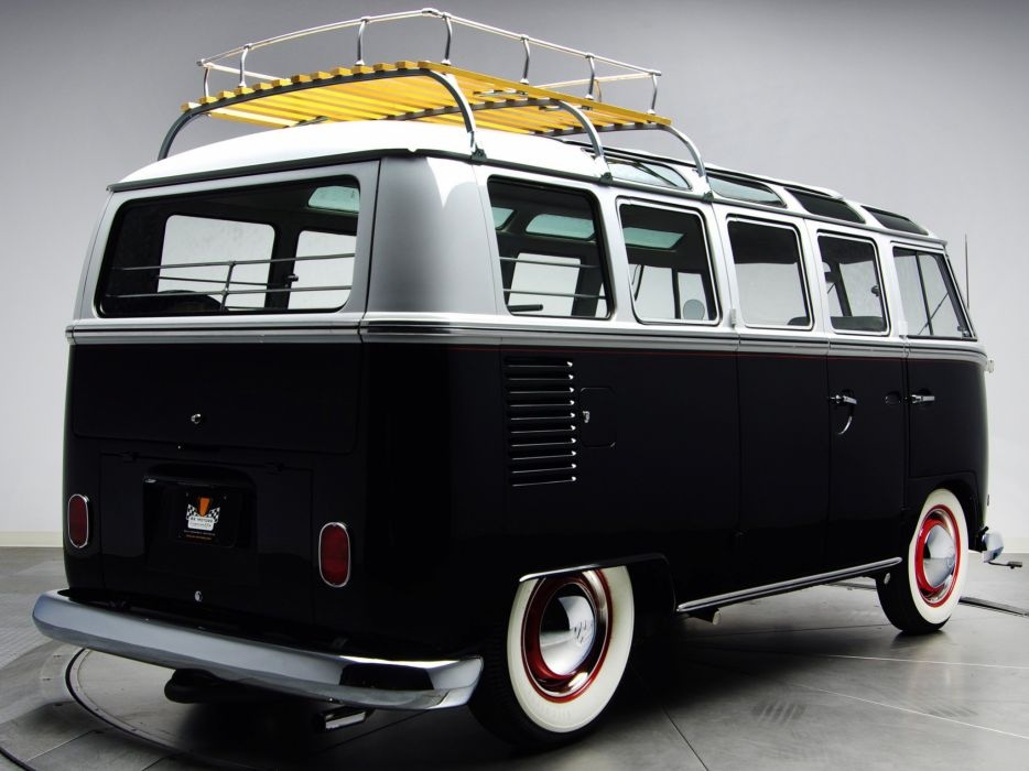 1963-67 Volkswagen T-1 Deluxe Samba Bus van classic socal lowrider custom     f wallpaper