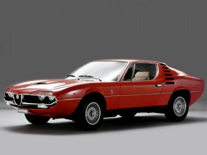 1970-77 Alfa Romeo Montreal (105) classic supercar k wallpaper