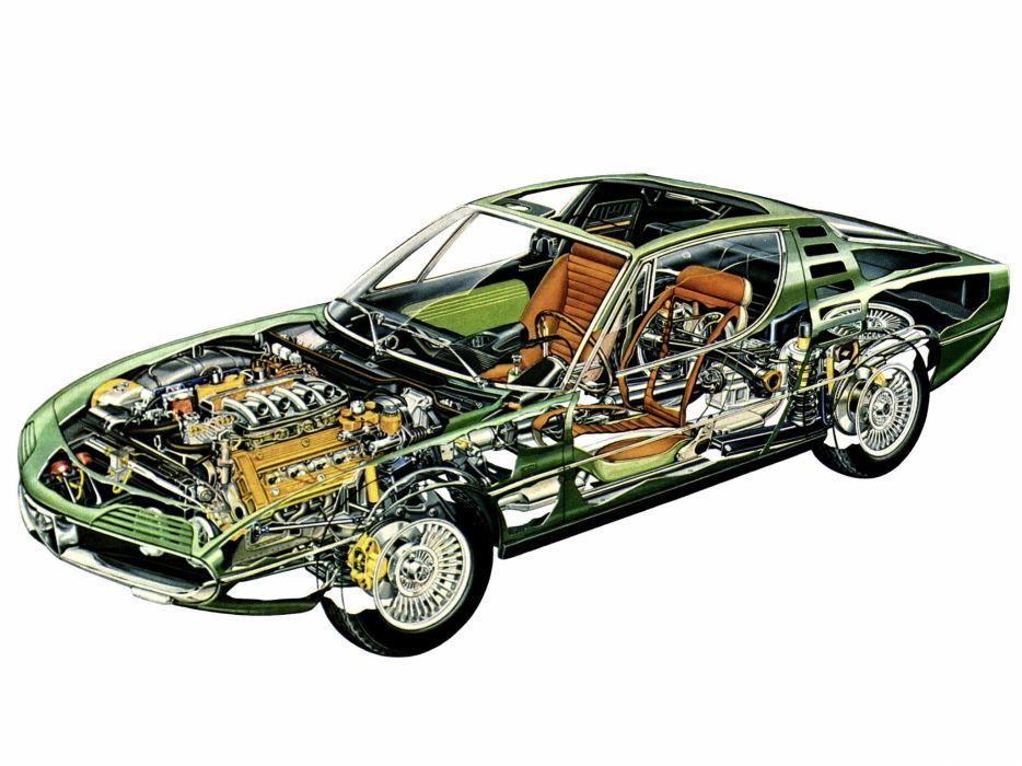 1970-77 Alfa Romeo Montreal (105) classic supercar interior engine     h wallpaper