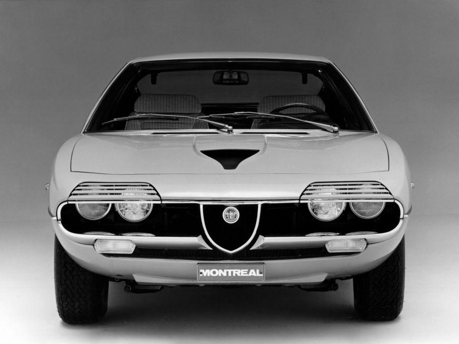 1970-77 Alfa Romeo Montreal (105) classic supercar  f wallpaper