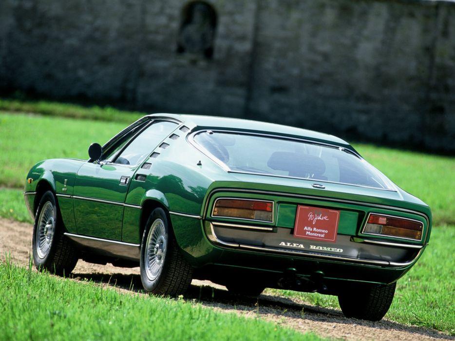 1970-77 Alfa Romeo Montreal (105) classic supercar  h wallpaper