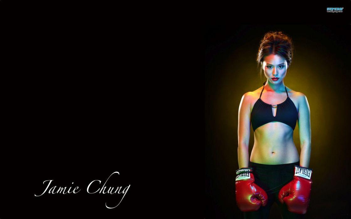 JAMIE CHUNG asian actress television babe boxing wallpaper