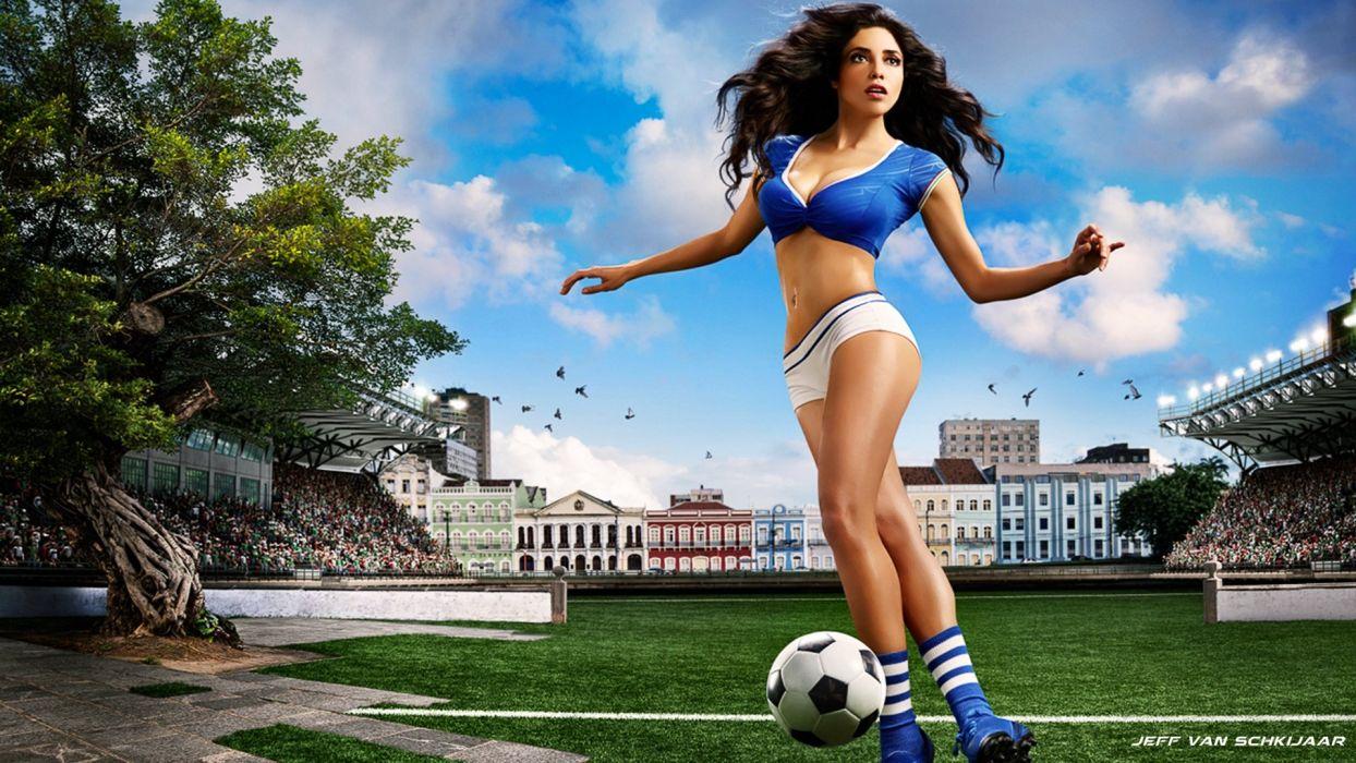 FIFA ITALY World Cup soccer italian sexy babe cheerleader wallpaper