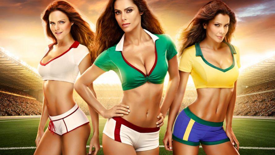 FIFA World Cup soccer cheerleader wallpaper