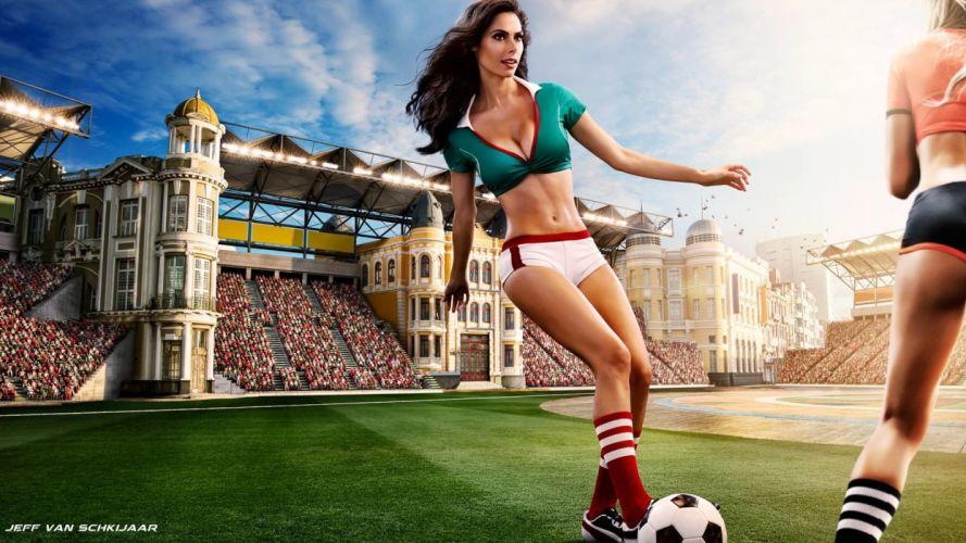 MEXICO soccer cheerleader babe sexy wallpaper