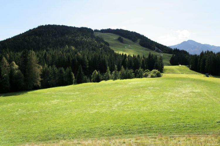Austria Seefeld hills forest skiing resort wallpaper