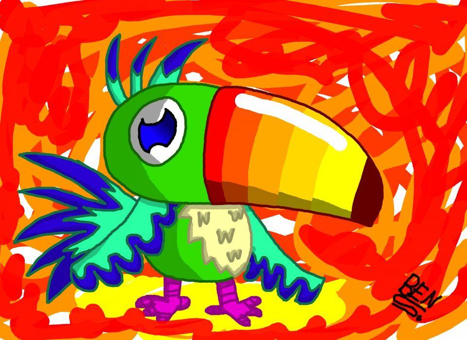 TOUCAN parrot bird tropical (1) wallpaper