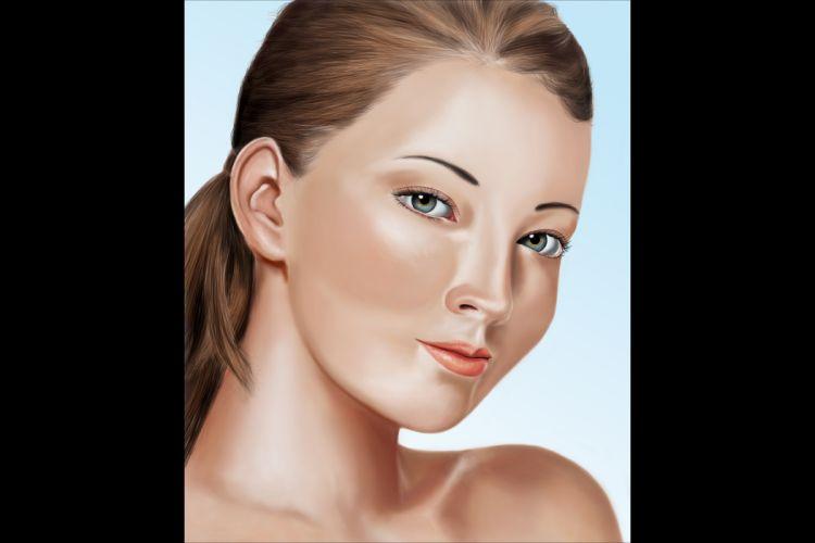 digital painting portrait brown hair wallpaper