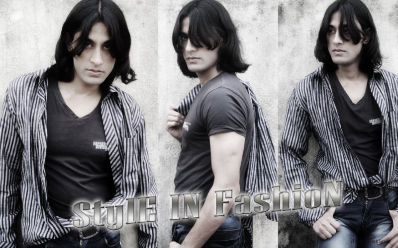 Male Model Rajkumar's Looking sexy and disheveled in worn jeans a T-shirt Photo style in fashion 2014 wallpaper wallpaper