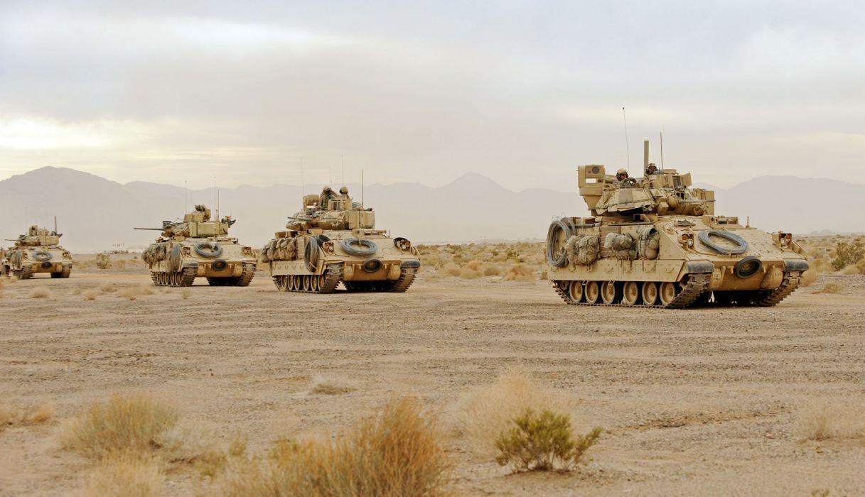 BRADLEY FIGHTING VEHICLE (bfv) apc tank tanks transport weapon military (12) wallpaper