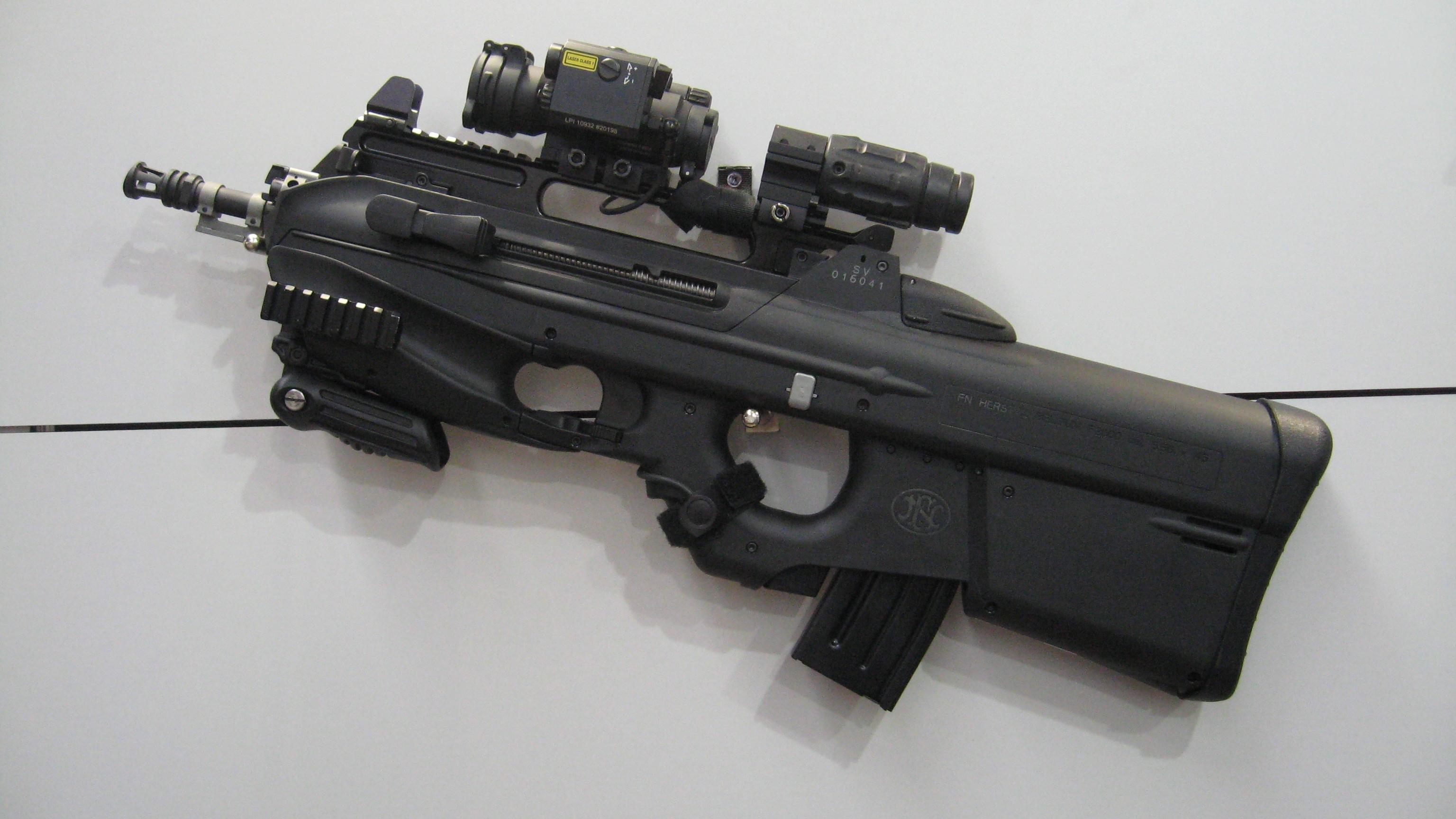 FN HERSTAL F 2000 Assault Rifle Weapon Gun Police Military 1 JPG Wallpaper