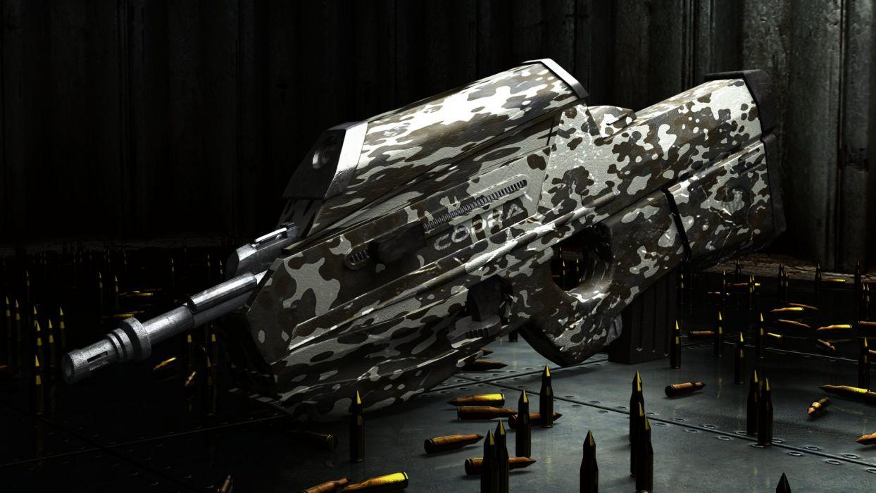FN HERSTAL F-2000 assault rifle weapon gun police military (1) wallpaper