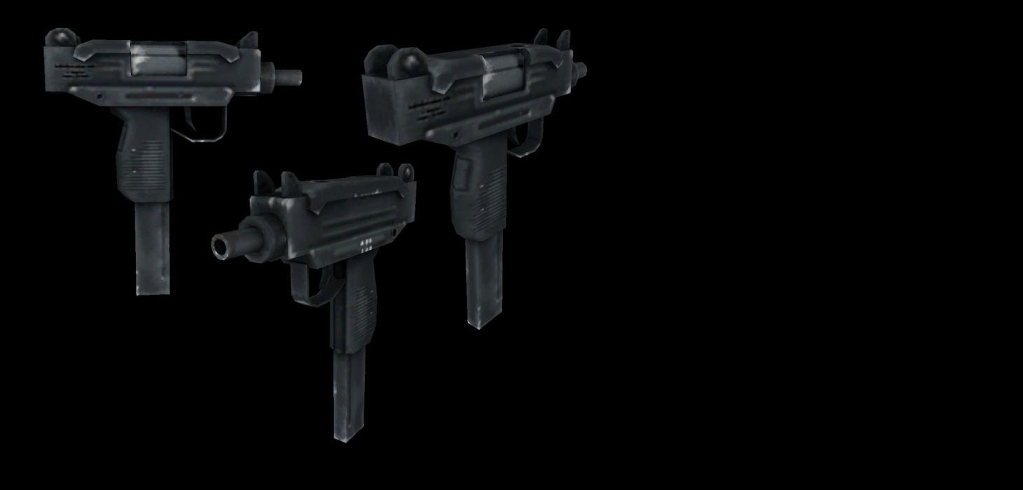 UZI machine gun weapon military police assault pistol (2) wallpaper