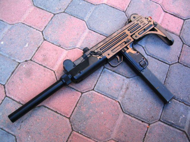 UZI machine gun weapon military police assault pistol (4) wallpaper