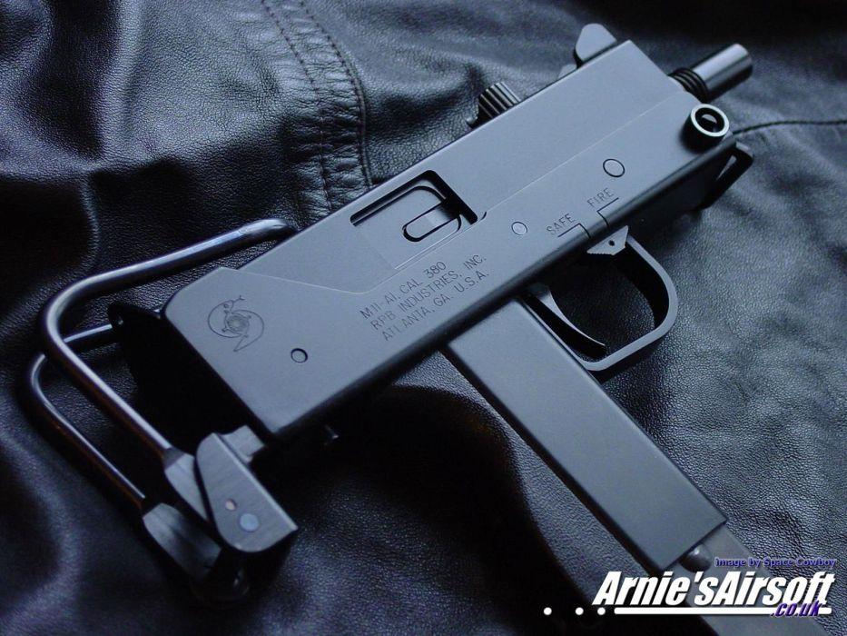 Uzi Machine Gun Weapon Military Police Assault Pistol 8