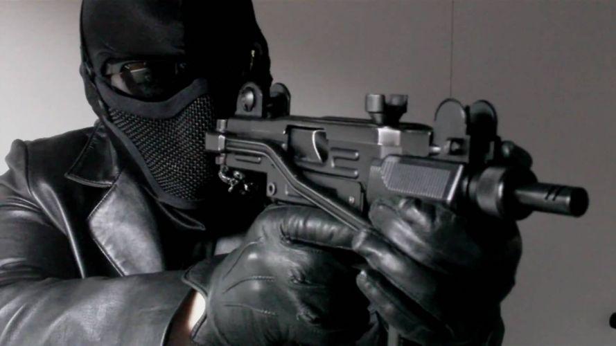 UZI machine gun weapon military police assault pistol (11) wallpaper