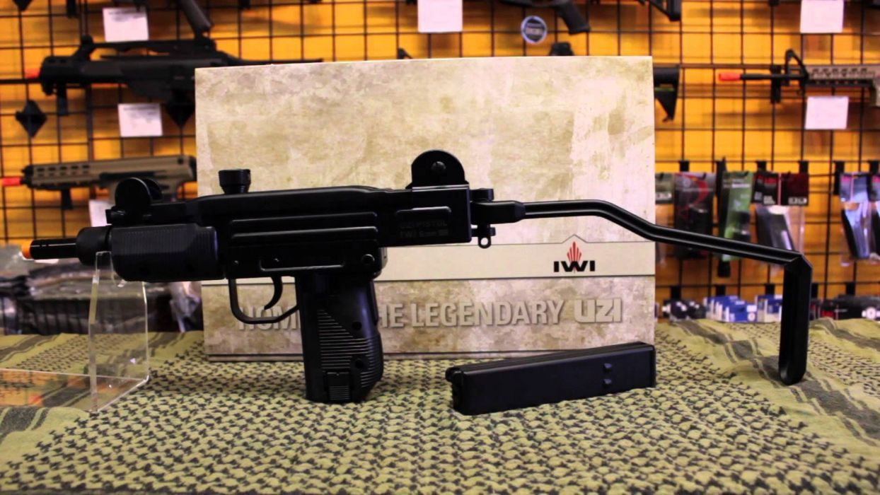 UZI machine gun weapon military police assault pistol (10) wallpaper