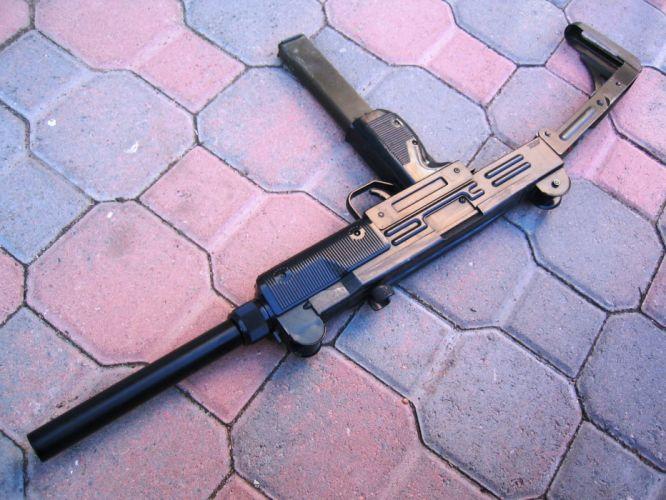 UZI machine gun weapon military police assault pistol (5) wallpaper