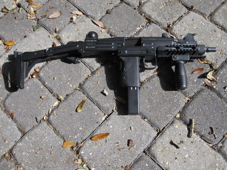 UZI machine gun weapon military police assault pistol (14) wallpaper