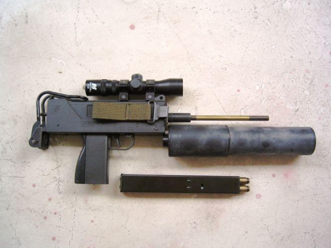 UZI machine gun weapon military police assault pistol (25) wallpaper