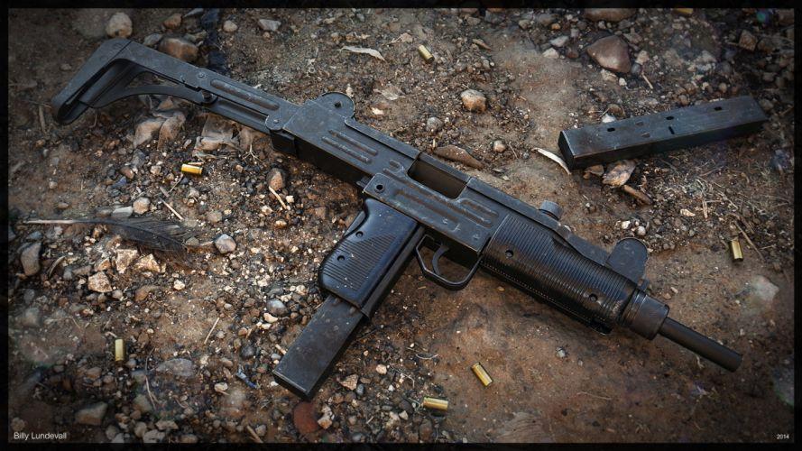 UZI machine gun weapon military police assault pistol (39) wallpaper