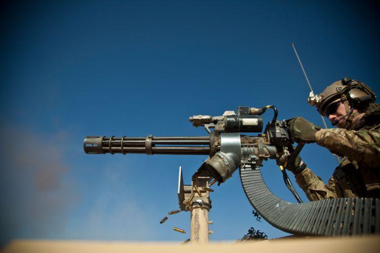 MINIGUN machine gun weapon military (7) wallpaper