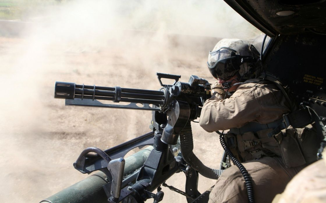 MINIGUN machine gun weapon military (28) wallpaper