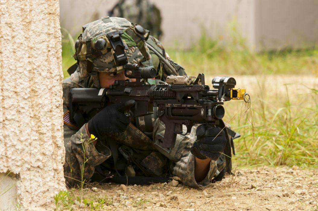 assault rifle weapon gun military (6) wallpaper