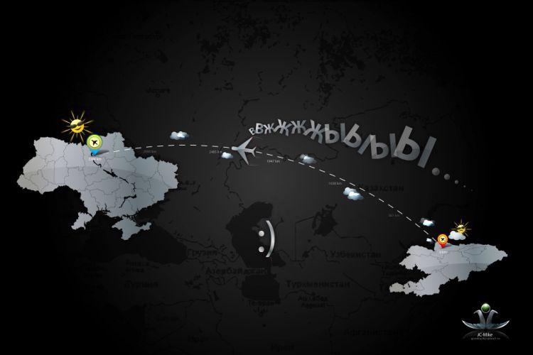 ukraine minimalism country map wallpaper