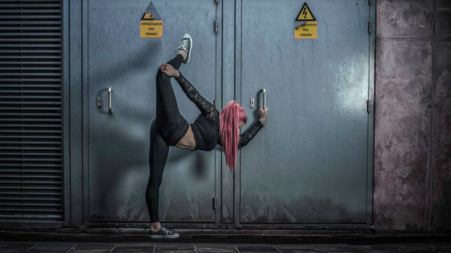 gymnast high voltage sexy babe fitness wallpaper