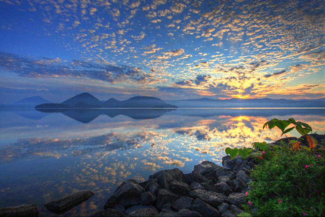 Lake Toya Japan Hokkaido wallpaper