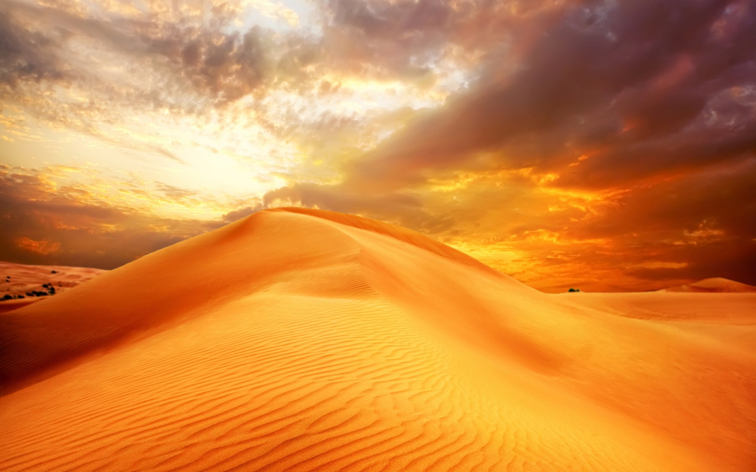 sunrise sand landscape clouds nature desert sky dune wallpaper    Desert Sunrise Wallpaper
