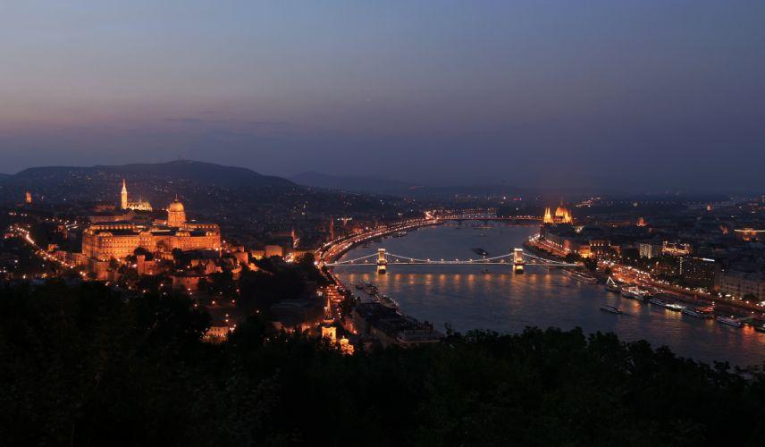 Budapest_night_sunset_old_town_river_Danube wallpaper