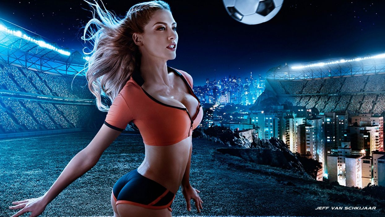 NETHERLANDS soccer cheerleader sexy babe wallpaper