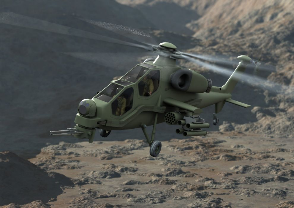 T129 ATTACK HELICOPTER raid atak weapon aircraft military (5)_JPG wallpaper