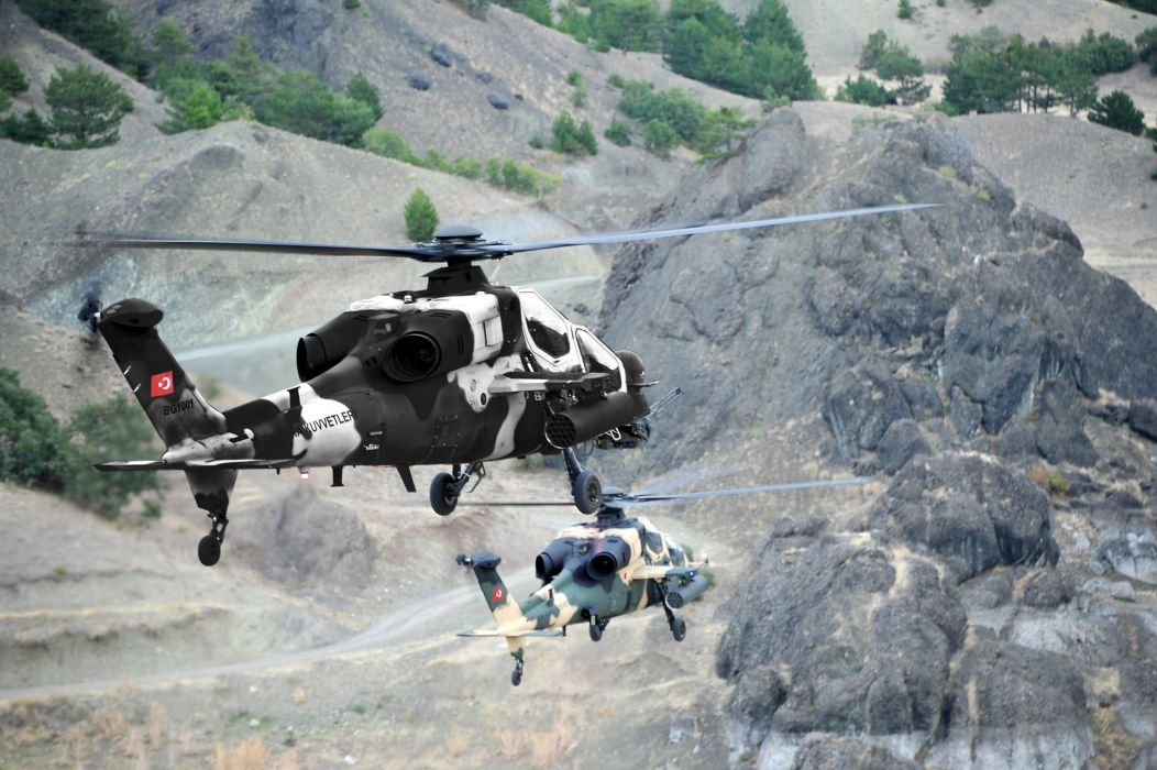 T129 ATTACK HELICOPTER raid atak weapon aircraft military (10) wallpaper