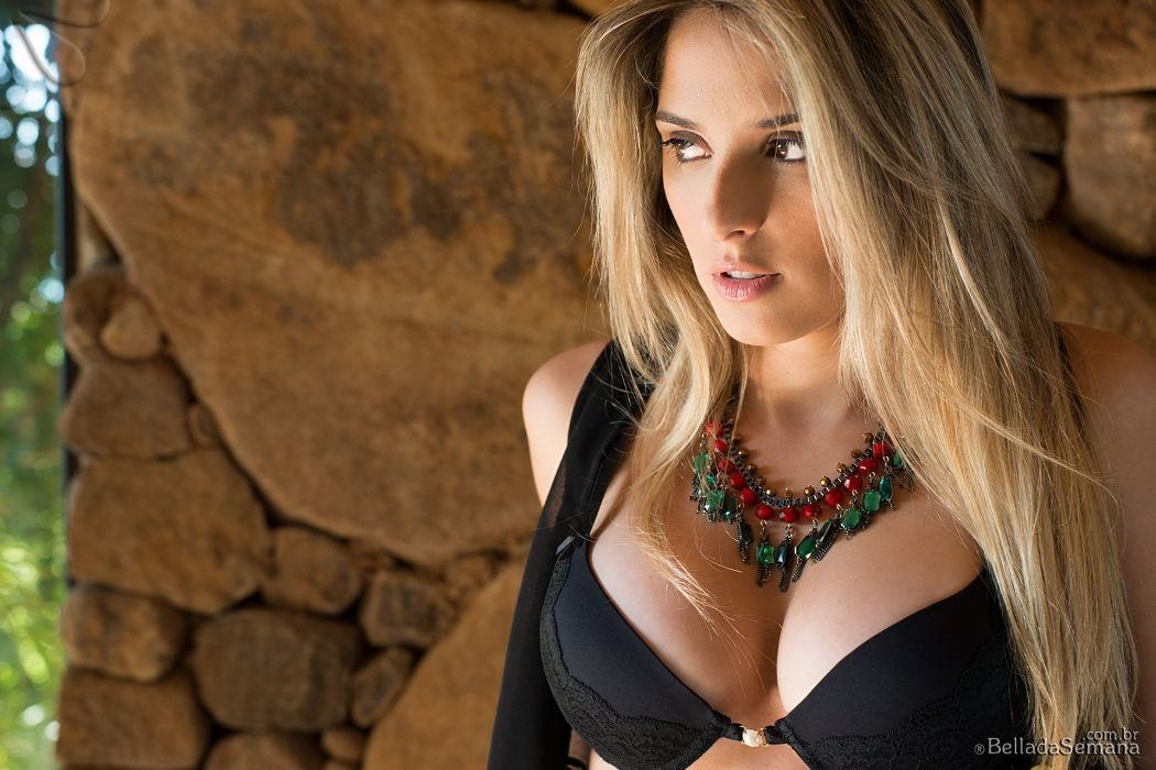 brazilian Brazilmodel blonde woman sexy babe brunette female bikini girl Rafaela Didea wallpaper