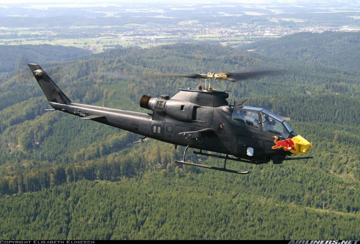 Helicopter Aircraft Vehicle Military Army Attack Cobra Red-Bull wallpaper