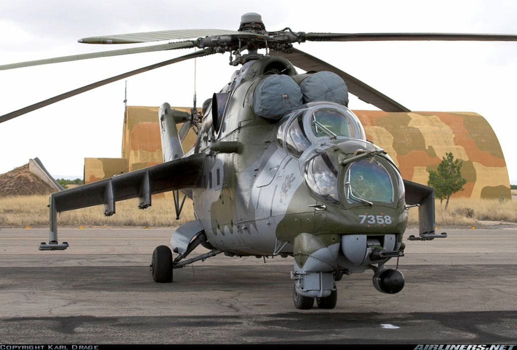 Helicopter Aircraft Vehicle Military Army Attack Mil-Mi Czech-Republi wallpaper